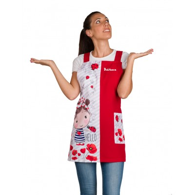 Tablier Chasuble Coquelicots