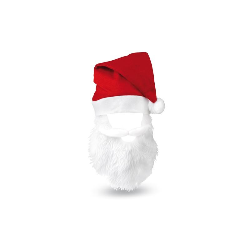 Gorro y Barba de Papá Noel Rojo