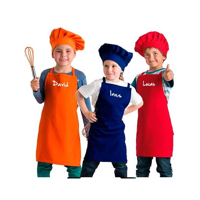 Delantal y Gorro Pequeño Chef Personalizado  8734374a9a2