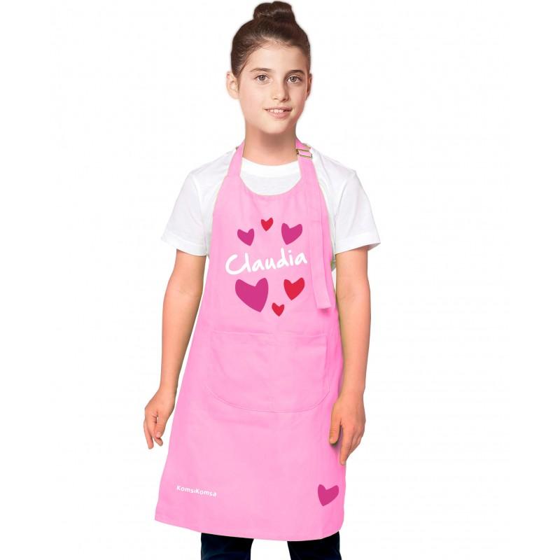 Tablier cuisine fille personnalisé