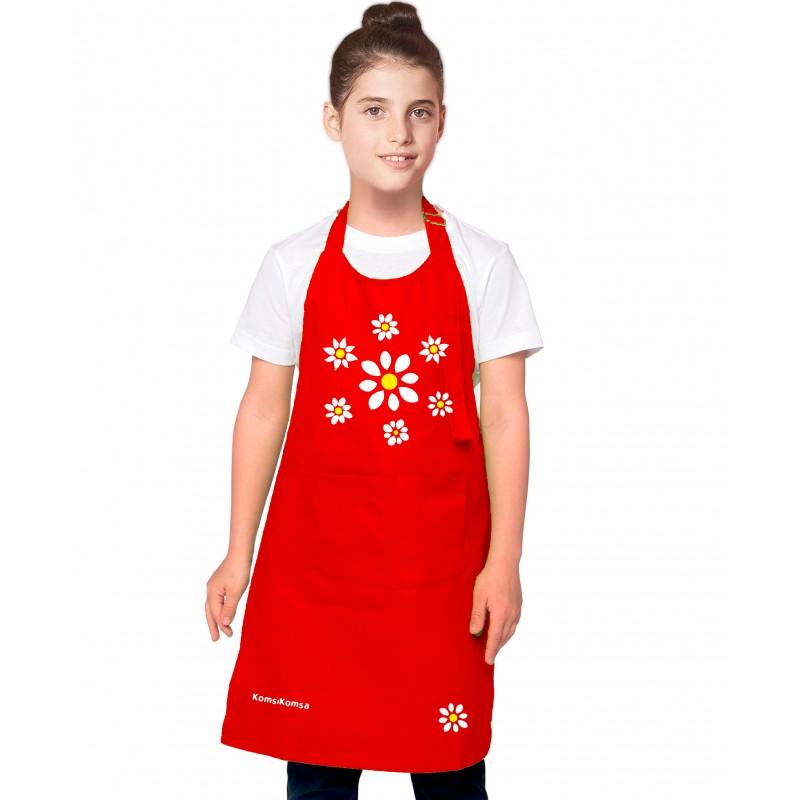 tablier cuisine fille bouquet de fleurs