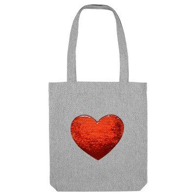 Sac Tote Bag Coeur Paillettes Personnalisé