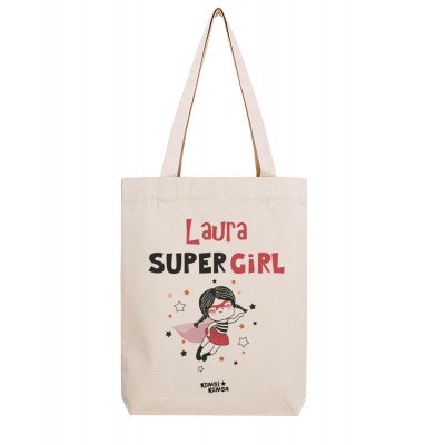 Tote Bag Super Girl Personnalisé