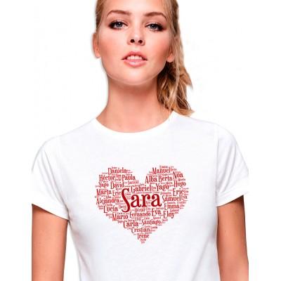 Camiseta Corazón Nombres