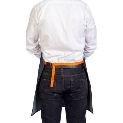 Tablier Denim Fil Orange