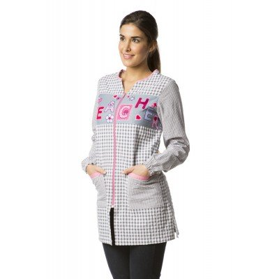 Blouse Teacher Gris Scolaire