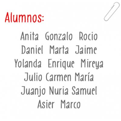 Imprésion noms des élèves