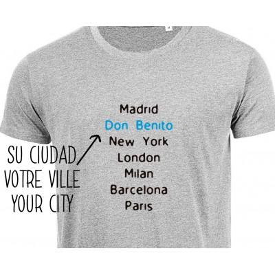 Camiseta City Hombre Personalizada