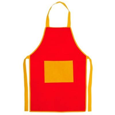 Delantal Infantil Bicolor Rojo