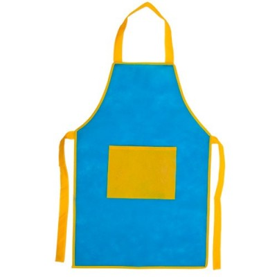 Delantal Infantil Bicolor Azul