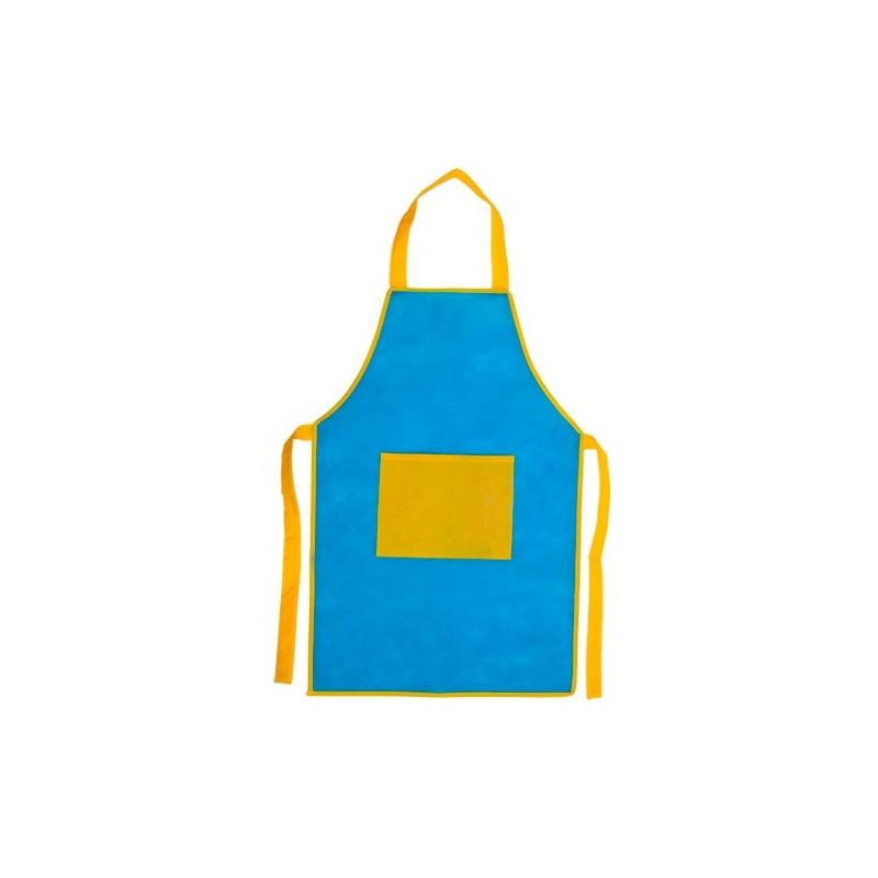 Delantales Infantiles Baratos Bicolor Azul