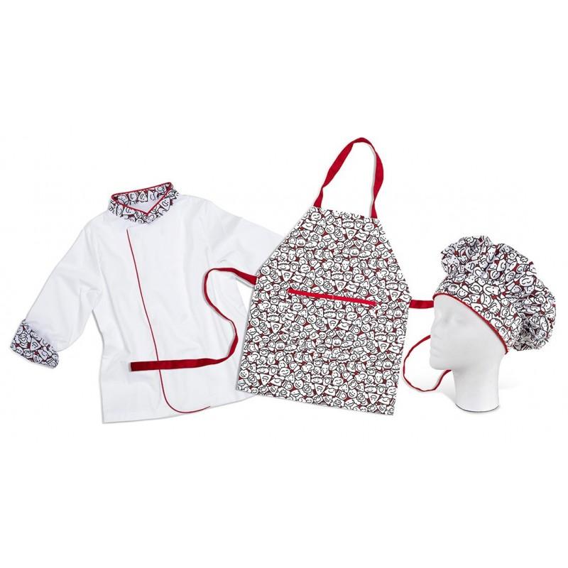 Tablier enfant toque veste