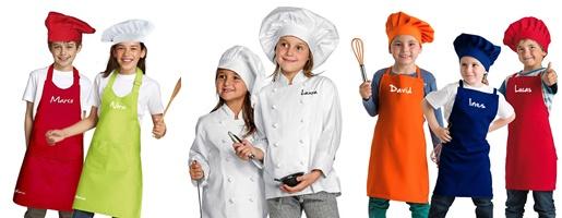 Personalizados si quieres hacer un buen regalo - Delantales y gorros de cocina para ninos ...