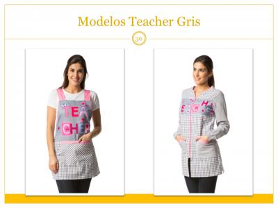 Modelos de Estola y Bata Teacher Gris