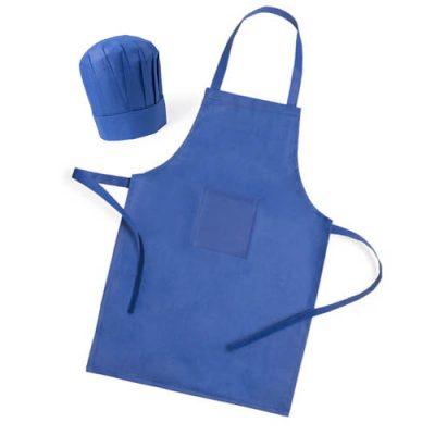 Conjunto de delantal y gorro de cocinero infantil, en material No Tejido