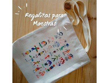 Bolsa de tela para regalar a maestras